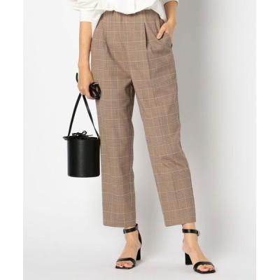 NOLLEY'S / TWチェックテーパードパンツ WOMEN パンツ > パンツ