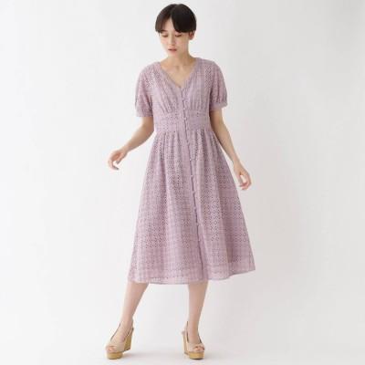 エージー バイ アクアガール AG by aquagirl 【洗える】アイレットレースワンピース (ベビーピンク)