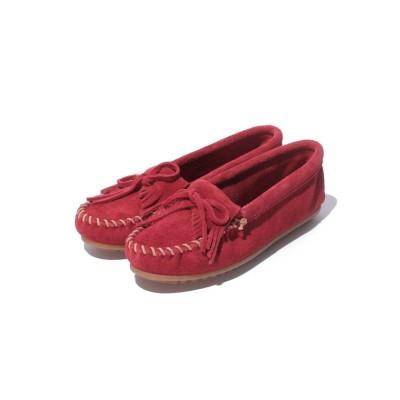 (MINNETONKA/ミネトンカ レディース)KILTY SUEDE MOC Red【37110016】/レディース Red