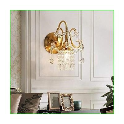 WEM 壁の装飾壁ライト、ゴールドクリスタルウォールランプリビングルーム寝室廊下レストランベッドサ