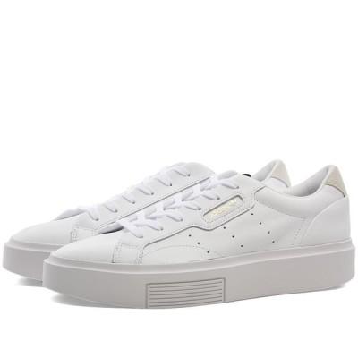 アディダス Adidas レディース スニーカー シューズ・靴 Sleek Super W White/Crystal/Core Black