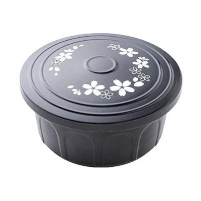 アーネスト 抗菌 セラミックス おひつ 桜柄 3合用 A-76377 (黒 3合用)