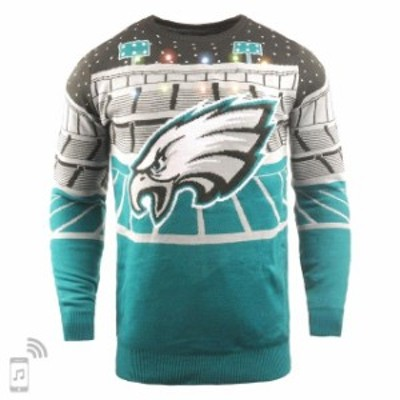 Forever Collectibles フォーエバー コレクティブル 服 スウェット Philadelphia Eagles Green Bluetooth Light Up U