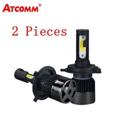 送料無料 カー用品 ヘッドライト 2 ピース LED H11 車ヘッドライト電球 LED H4 H7 自動ランプ COB チップ 6500 k 白 1