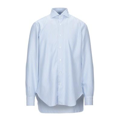 BARBA Napoli シャツ スカイブルー 43 コットン 100% シャツ