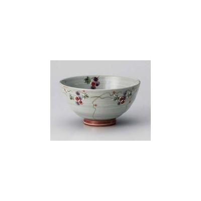 和食器 ア362-217 三彩ぶどう赤茶碗