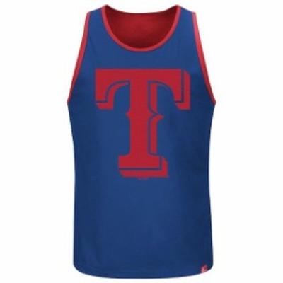 Majestic マジェスティック 服 タンクトップ Majestic Texas Rangers Royal All Last Season Tank Top