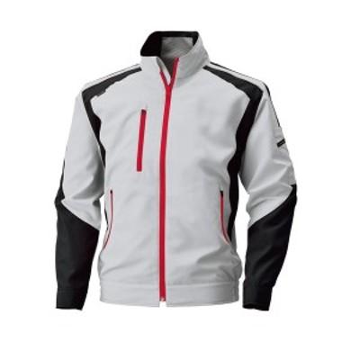 4930269053058 空調風神服 BK6007 長袖ジャケット 色:シルバーグレー×ブラック サイズ:M