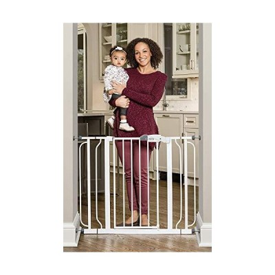 (新品) Regalo Easy Step Extra Wide Baby Gate, Includes 4-Inch and 4-Inch Extension Kits, 4 Pack of Pressure Mounts Kit and 4 Pack of W