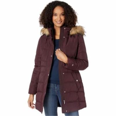 トミー ヒルフィガー Tommy Hilfiger レディース ダウン・中綿ジャケット フード Mid Length Hooded Puffer Jacket with Faux Fur trimme