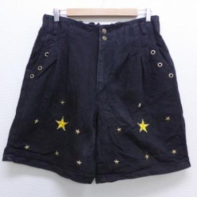 古着 ショート パンツ ショーツ 90年代 90s 星 スタッズ コットン タロン USA製 黒 ブラック デニム spe W34 中古 メンズ ボトムス 短パ