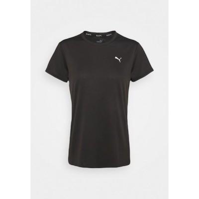 プーマ シャツ レディース トップス RUN FAVORITE TEE - Print T-shirt - black