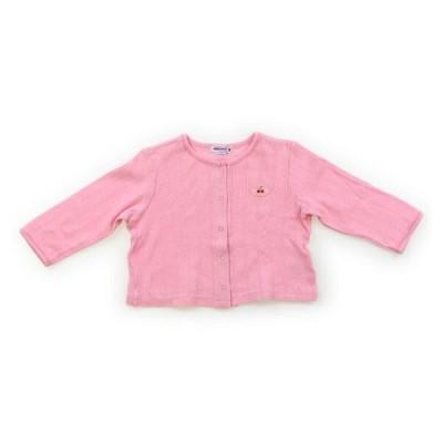 ミキハウス mikiHOUSE カーディガン 80サイズ 女の子 子供服 ベビー服 キッズ