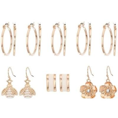 ゲス 9-Pair Mixed Earrings Set with Studs  Drops and Hoops レディース ピアス イヤリング Rose Gold
