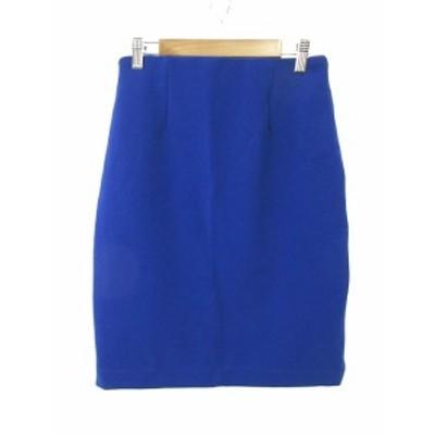 【中古】ビームスハート BEAMS HEART スカート 台形 ロング ミモレ F 青 ブルー /NN28 レディース