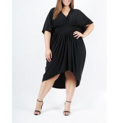 コルデシナ レディース ワンピース トップス Butterfly Plus Size Women's Kaftan Black