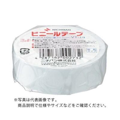 ニチバン ビニールテープ白19mmX10m 1巻 (VT-195) 【10巻セット】 ニチバン(株) (メーカー取寄)