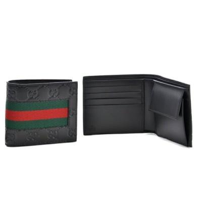 グッチ GUCCI メンズ 二つ折財布 BLACK 408826-CWCLN