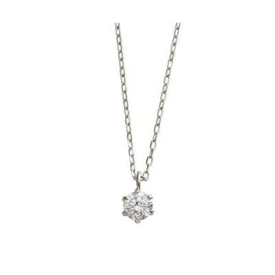 L&Co. (エルアンドコー) ペーパーボックス&バッグ付 K18 シンプル ダイヤモンド 0.1ct 1粒 ネックレス バチカンデザイン