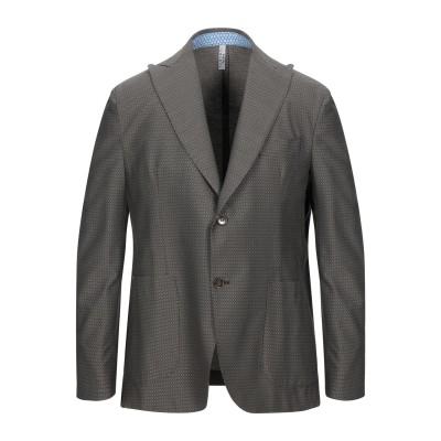 VERDERA テーラードジャケット ダークブラウン 44 コットン 50% / ポリエステル 28% / ナイロン 22% テーラードジャケット