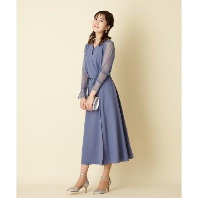 ドレス 【WEB限定】レースロングスリーブドレス