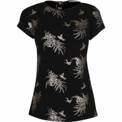 オアシス Oasis レディース Tシャツ トップス Tropical Foil Print T-shirt Multi Black