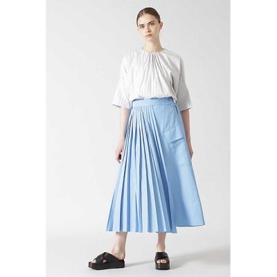 <ADORE(Women)/アドーア> プリーツドッキングスカート ブルー【三越伊勢丹/公式】