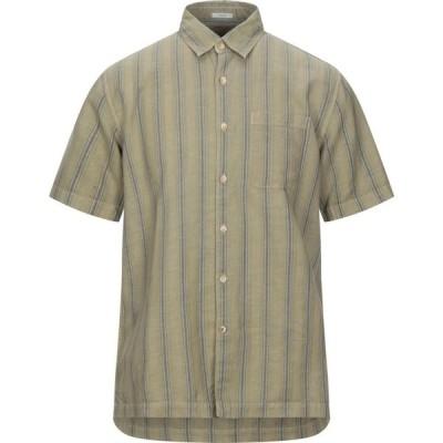 ペペジーンズ PEPE JEANS メンズ シャツ トップス linen shirt Military green