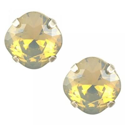 マリアナ イヤリング Mariana Silver Plated Round Crystal Stud Earrings