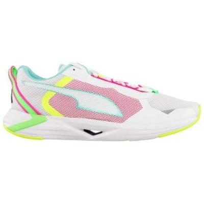 プーマ レディース スニーカー シューズ Minima Pro Foam Running Shoes Puma White/Aruba Blue/Elektro Green