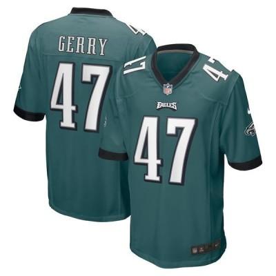 ナイキ メンズ Tシャツ トップス Nathan Gerry Philadelphia Eagles Nike Game Jersey Midnight Green