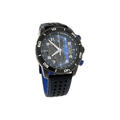 腕時計 シチズン Citizen Eco-Drive Mens Chronograph Primo Black Leather Watch CA0467-03E