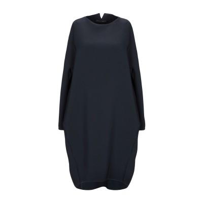 GWHITE ミニワンピース&ドレス ダークブルー 46 ポリエステル 96% / ポリウレタン 4% ミニワンピース&ドレス