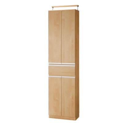 扉付き1cmピッチダブル棚板の薄型本棚