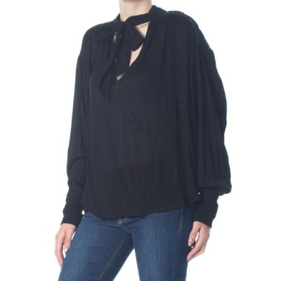 レディース 衣類 トップス FREE PEOPLE Womens Black Wishful Moments Long Sleeve Top Size: XS ブラウス&シャツ