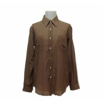LANVIN ドレープコットンシャツ (Drape cotton shirt) ランバン ブラウス 063182