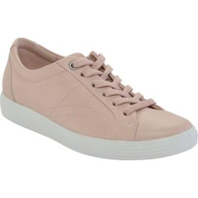 エコー レディース スニーカー シューズ Soft 7 Stitch Tie Sneaker Rose Dust Leather