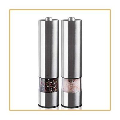 [新品]Electric Salt And Pepper Grinder Set,Battery Operated Premium Stainless Steel Mills with LED Light,Electronic Adjustable Shakers