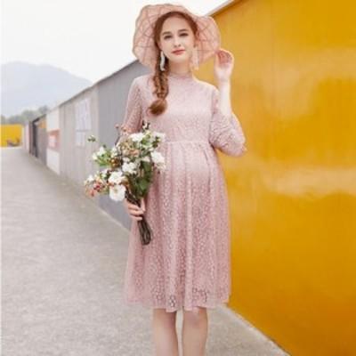 マタニティドレス 結婚式 お呼ばれ ワンピース パーティードレス 結婚式 二次会 ワンピース ドレス マタニティ ドレス 結婚式 長袖  ロン