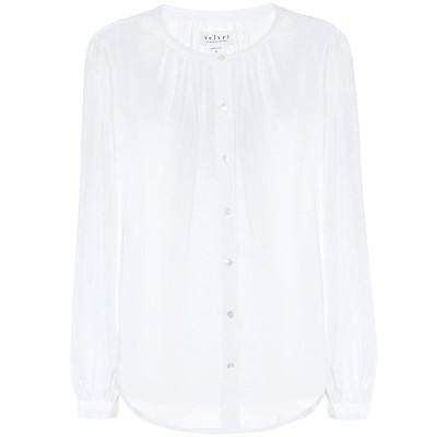 ベルベット グラハム&スペンサー Velvet レディース ブラウス・シャツ トップス serafina blouse White