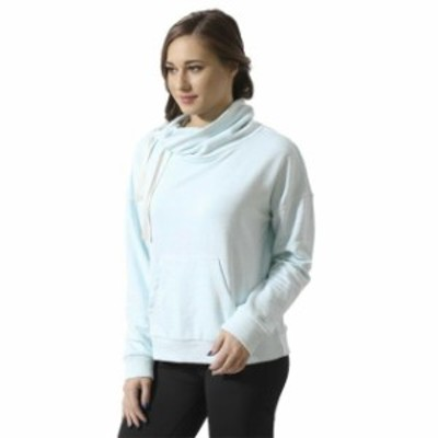 Reebok リーボック ファッション トップス [BK5191] New Womens REEBOK Elements Marble Cowl Neck Sweatshirt Sweater - Mist