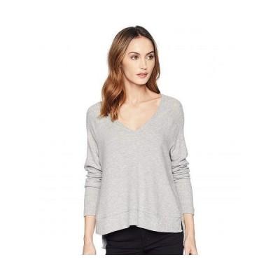 Three Dots スリードッツ レディース 女性用 ファッション セーター Myra V-Neck Sweater - Granite