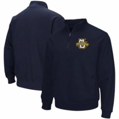 Stadium Athletic スタジアム アスレティック スポーツ用品  Marquette Golden Eagles Navy Team Logo Quarter-Zip Sweatshirt