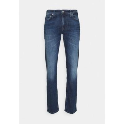 カルバンクライン デニムパンツ メンズ ボトムス SLIM - Slim fit jeans - denim dark