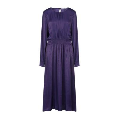 シルビアンヒーチ SILVIAN HEACH 7分丈ワンピース・ドレス パープル S ポリエステル 100% 7分丈ワンピース・ドレス