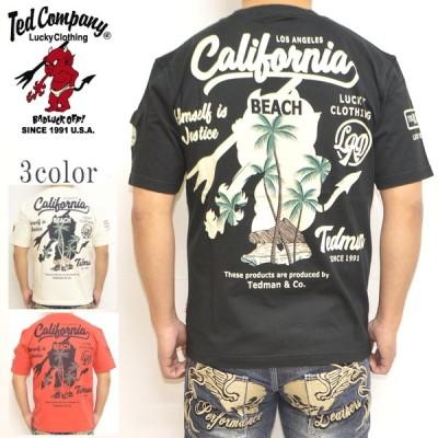 テッドマン TEDMAN TDSS-529 半袖Tシャツ カリフォルニア メンズ トップス