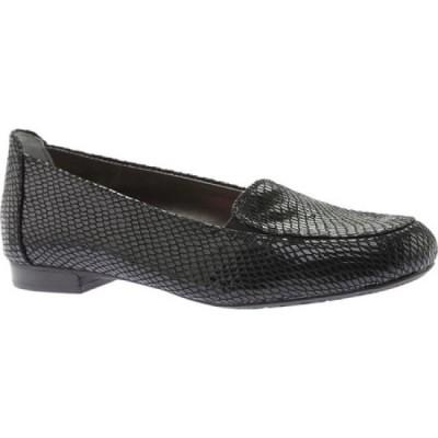 ロスホマーソン Ros Hommerson レディース ローファー・オックスフォード シューズ・靴 Regan Loafer Black Leather
