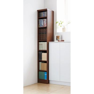 色とサイズが選べるオープン本棚 幅28.5cm高さ178cm ホワイト