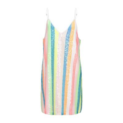 LE VOLIÈRE ミニワンピース&ドレス ホワイト M 紡績繊維 100% ミニワンピース&ドレス