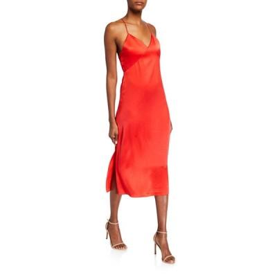 アリス アンド オリビア レディース ワンピース トップス Loraine Seamed Midi Dress